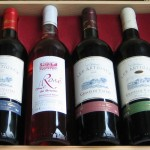 6 bottles in a wooden box