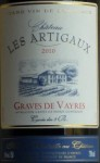 2012 cuvée des 3B aged in aok barrels referenced at Hachette guide 2016